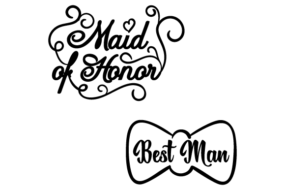 Download Free Maid Of Honor Best Man Svg Cut File By Creative Fabrica Crafts for Cricut Explore, Silhouette and other cutting machines.