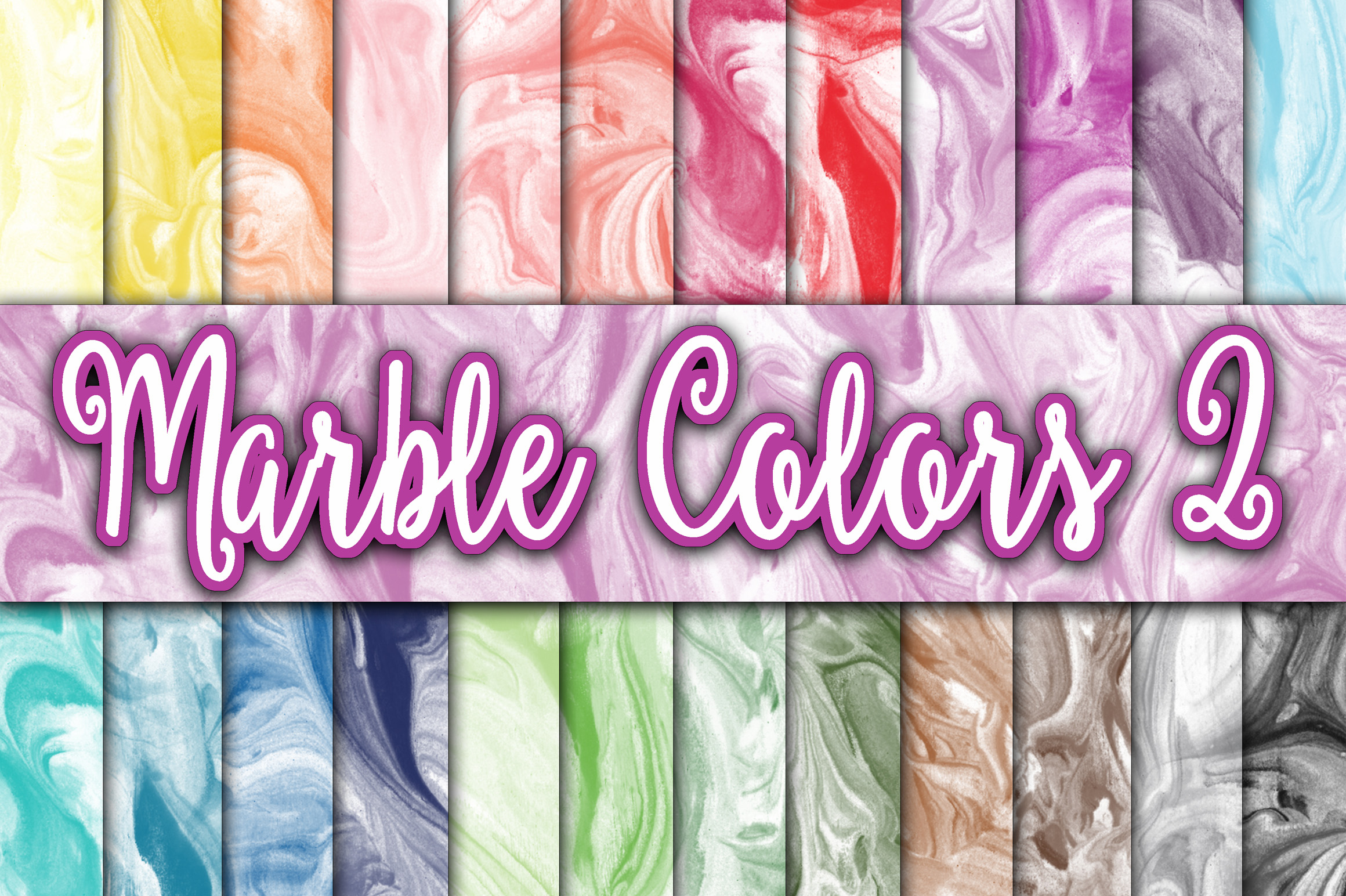 Download Free Marble Colors Digital Paper Textures Set 2 Graphic By for Cricut Explore, Silhouette and other cutting machines.
