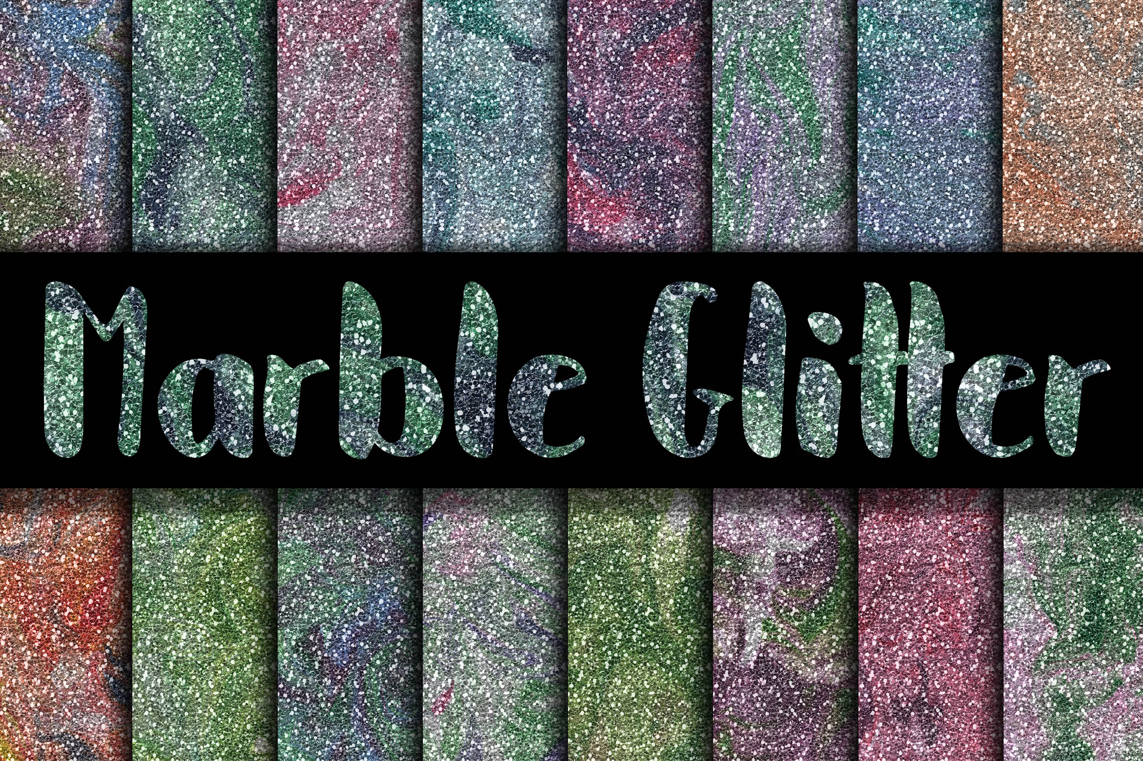 Marble Glitter Digital Paper Textures Graphic By oldmarketdesigns Image 1