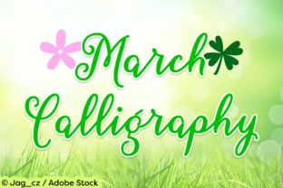 March Calligraphy Font By Misti