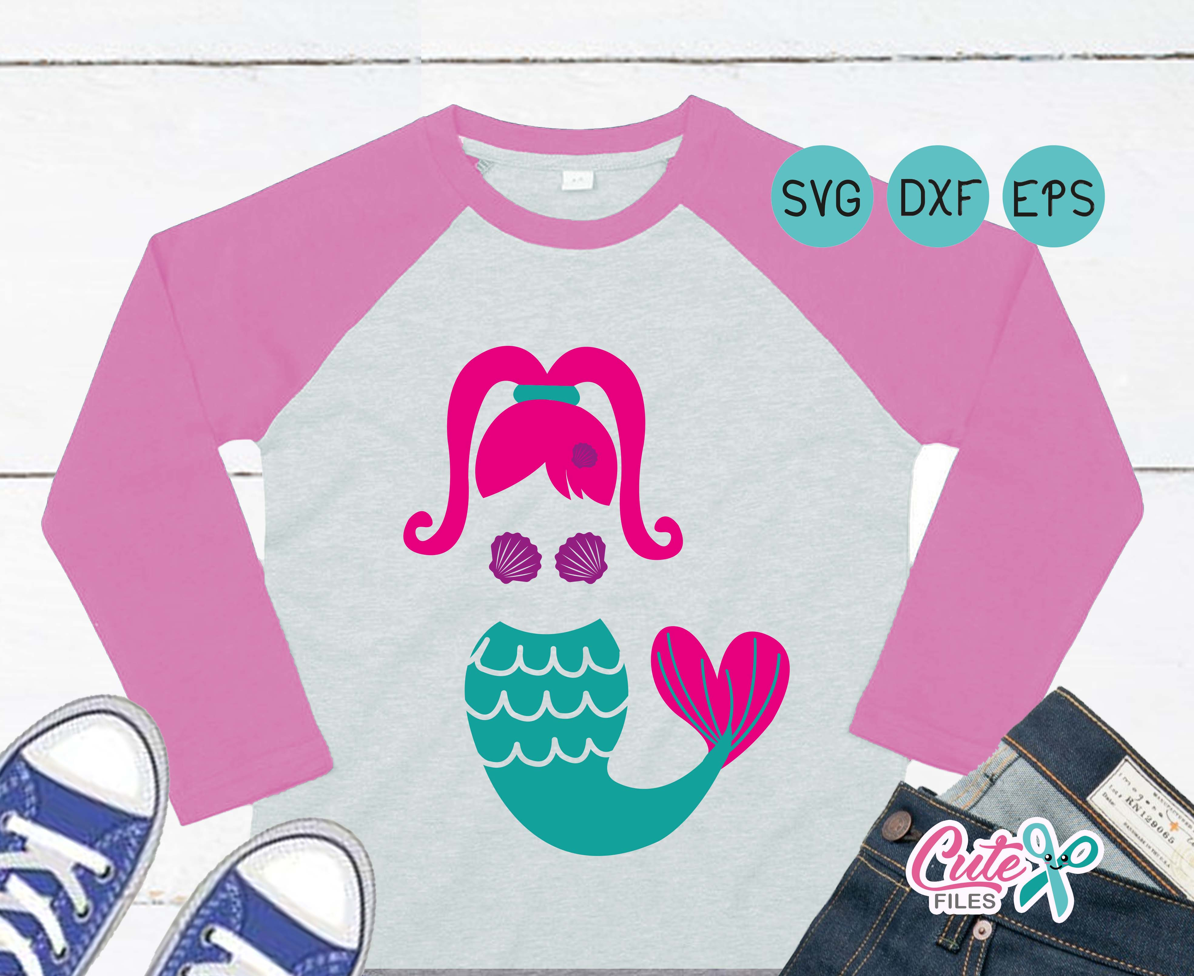 Download Free Mermaid Girl Graphic By Cute Files Creative Fabrica SVG Cut Files