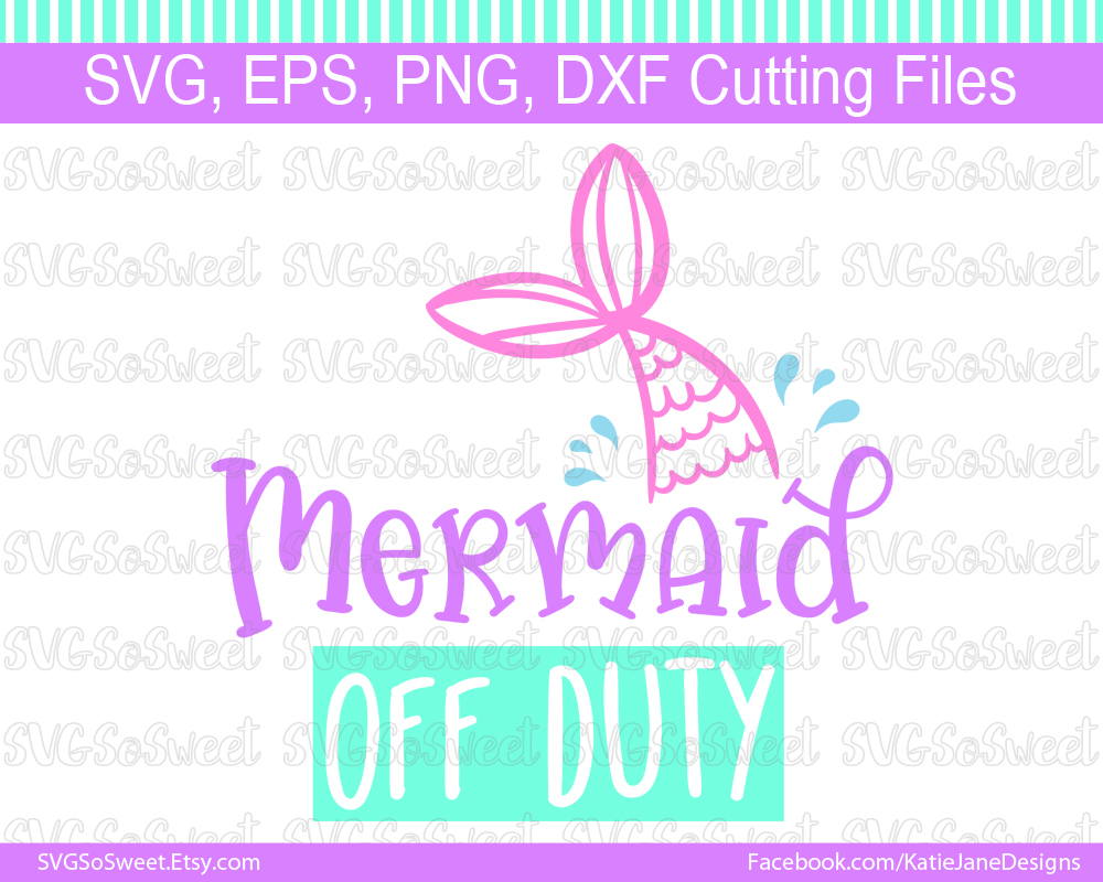 Mermaid off Duty Graphic Crafts By Southern Belle Graphics