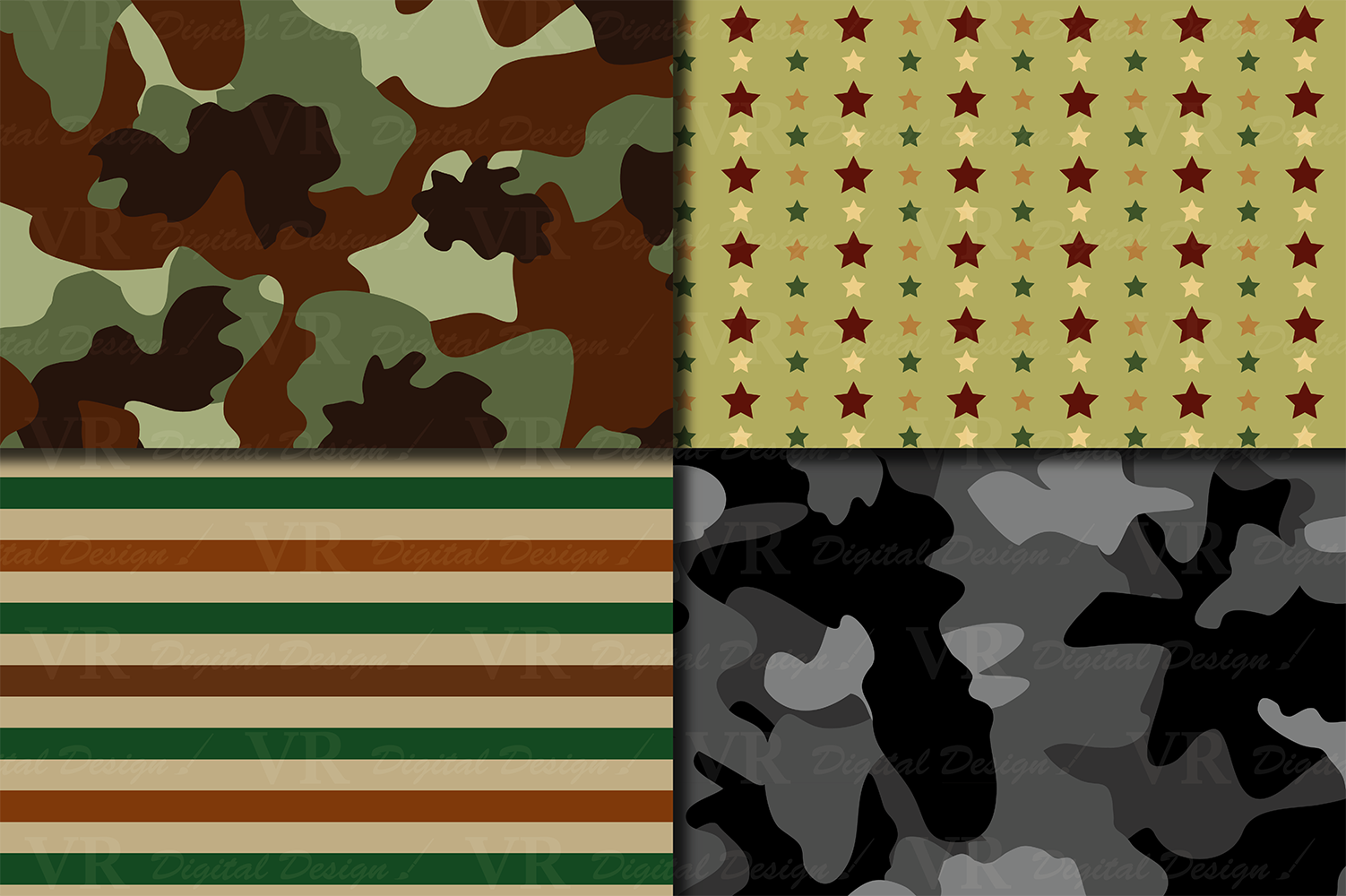 Military Digital Papers Graphic Backgrounds By VR Digital Design - Image 2