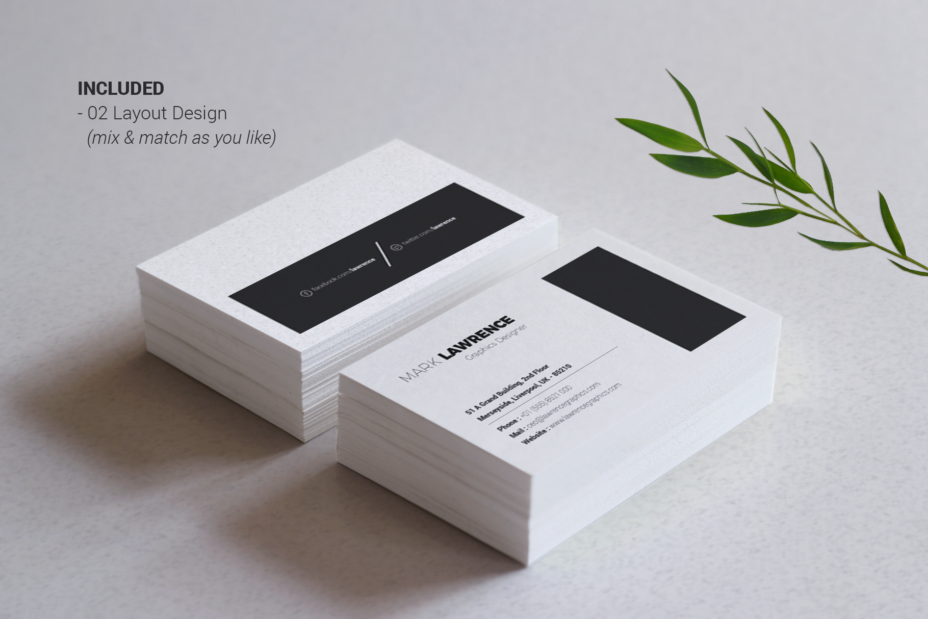 Print on Demand: Minimalist Business Card Vol. 03 Graphic Print Templates By onedsgn - Image 3