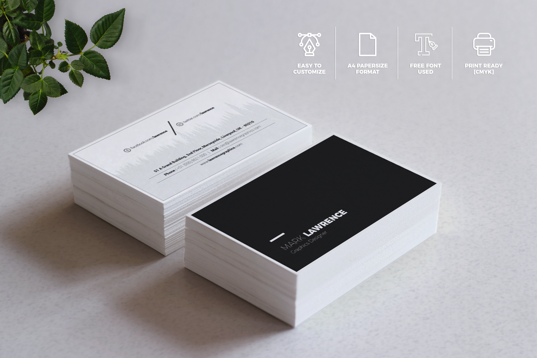 Print on Demand: Minimalist Business Card Vol. 03 Graphic Print Templates By onedsgn - Image 4