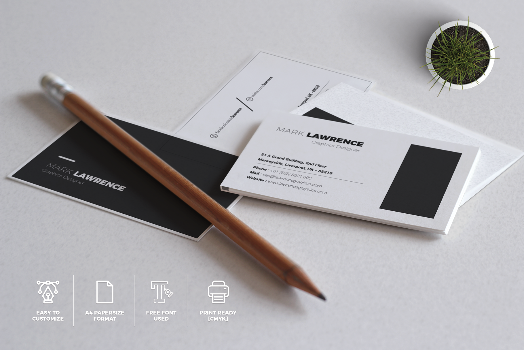 Print on Demand: Minimalist Business Card Vol. 03 Graphic Print Templates By onedsgn - Image 5