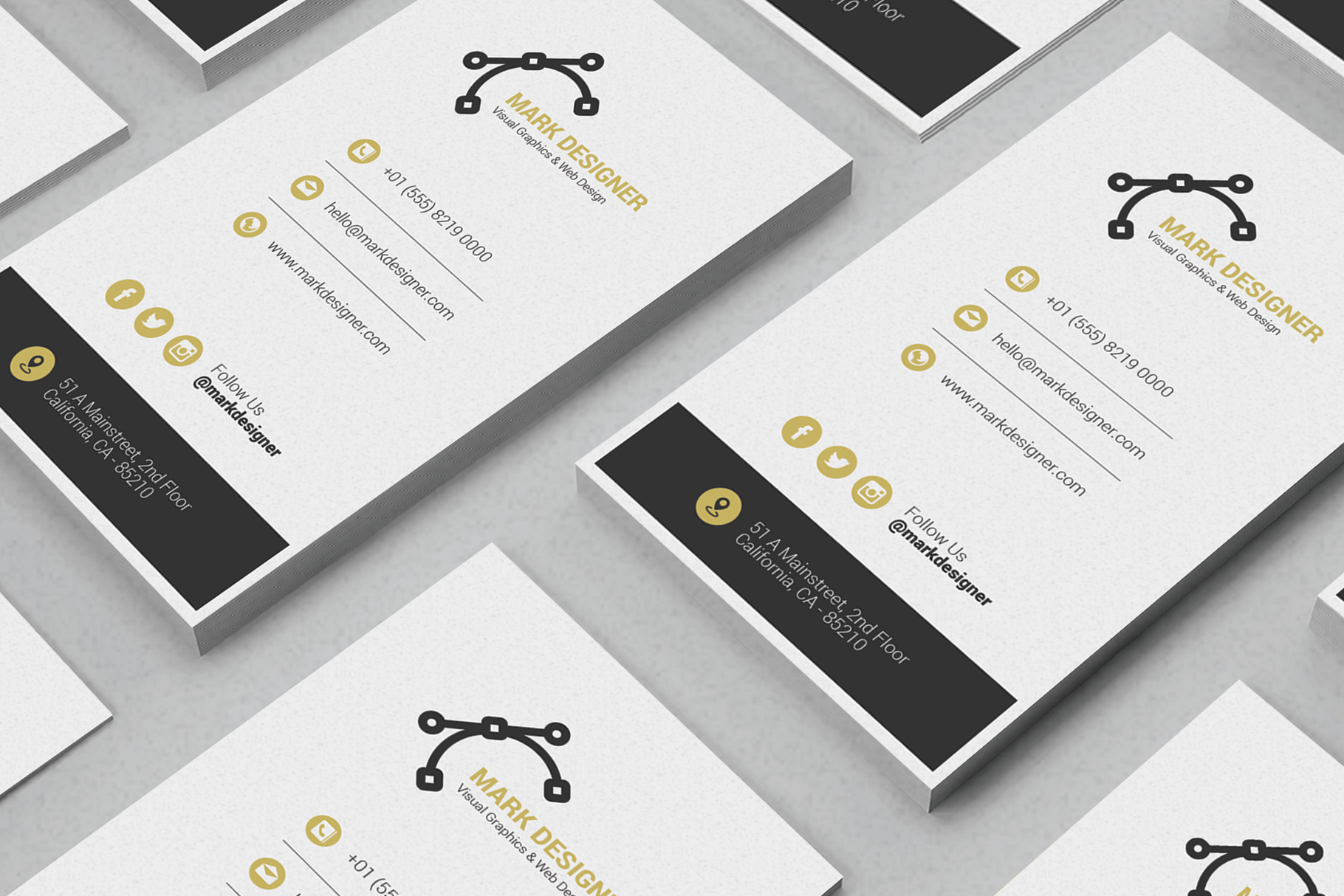 Print on Demand: Minimalist Business Card Graphic Print Templates By onedsgn - Image 3