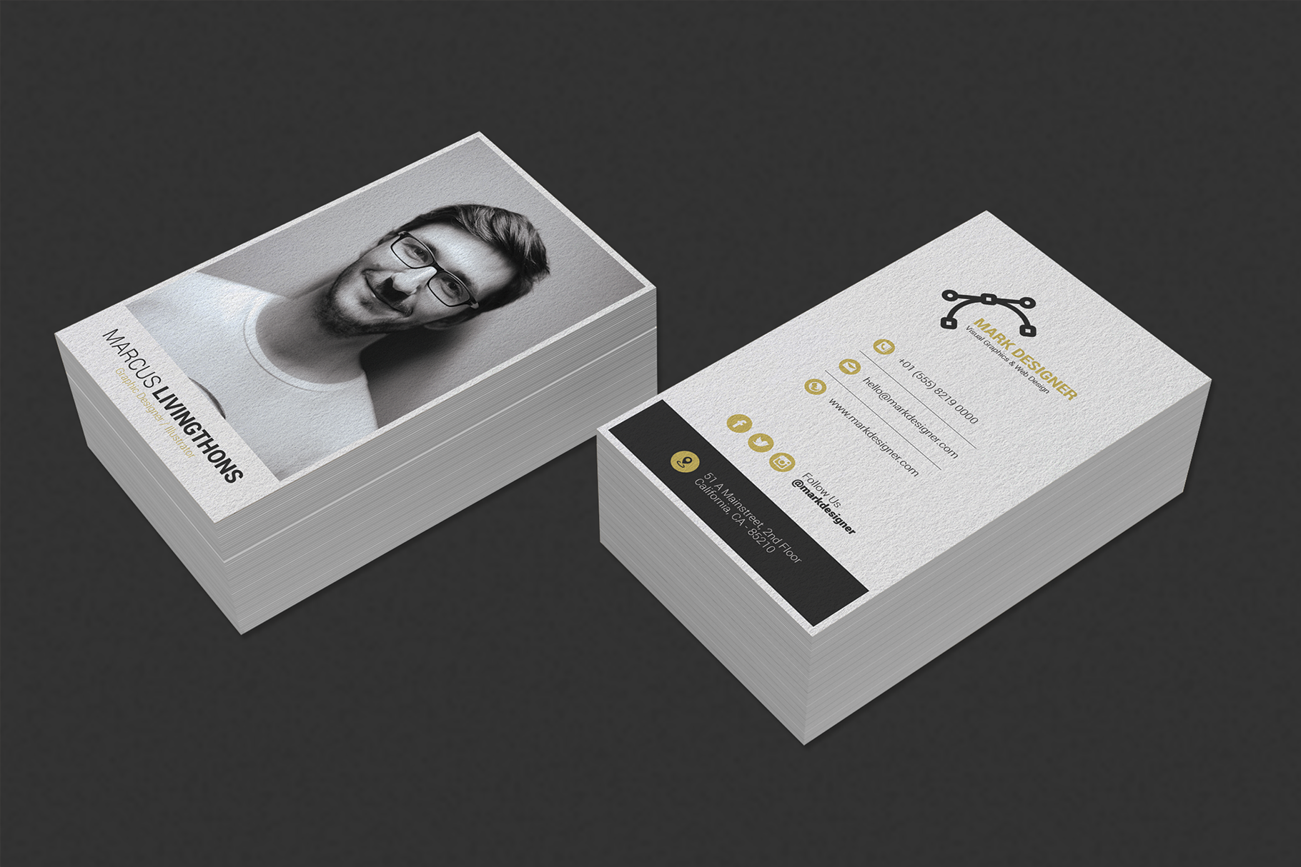 Print on Demand: Minimalist Business Card Graphic Print Templates By onedsgn - Image 5