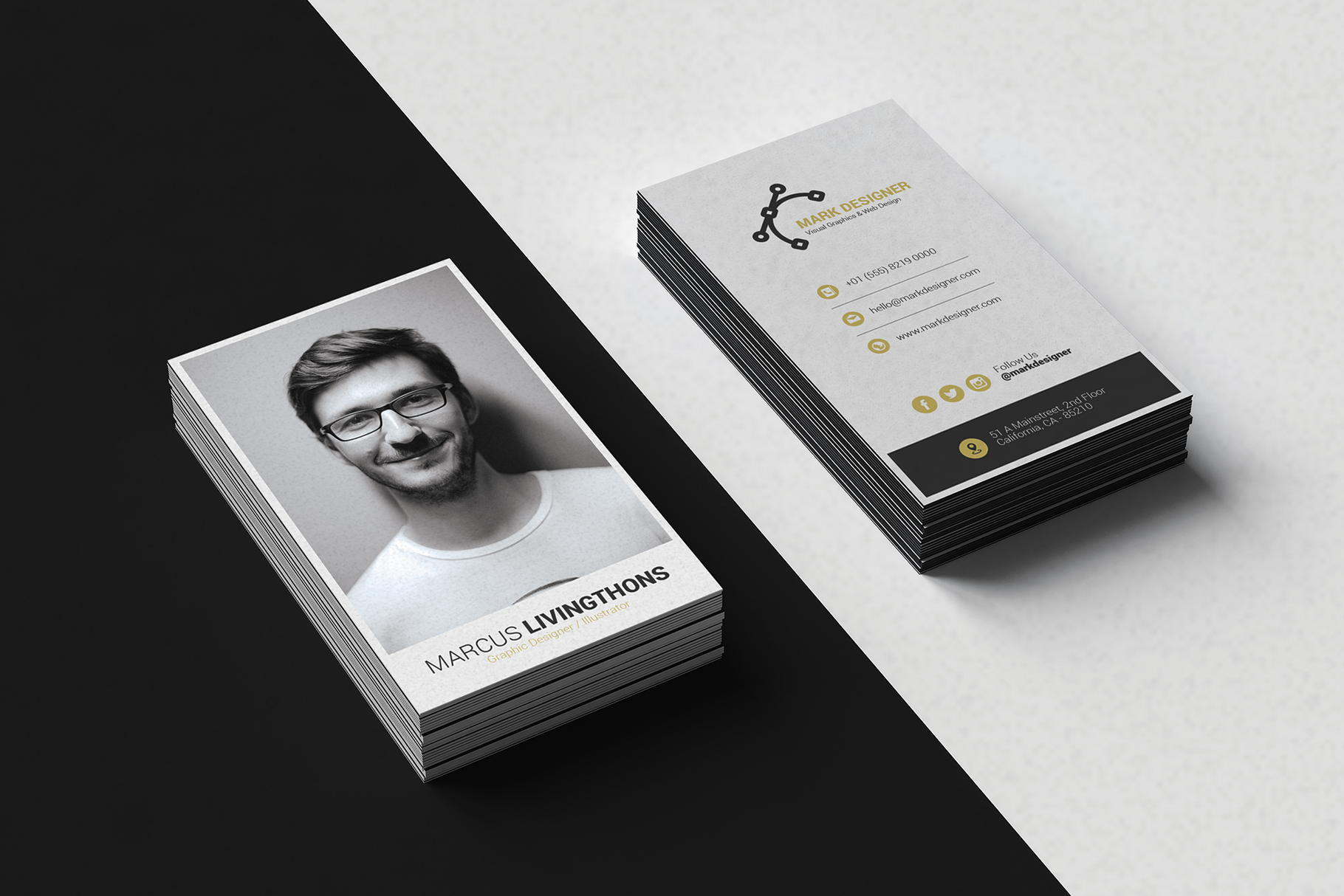 Print on Demand: Minimalist Business Card Graphic Print Templates By onedsgn - Image 1