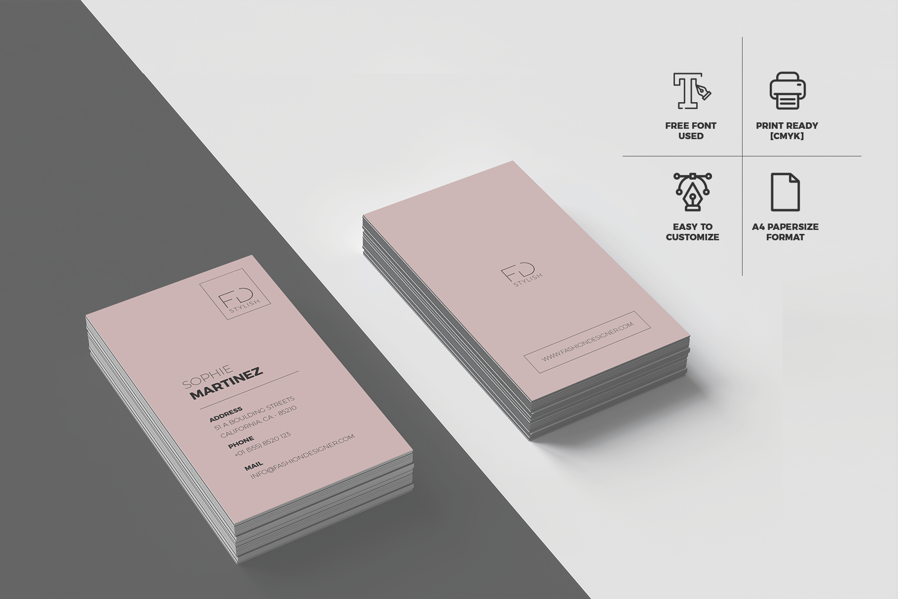 Download Free Minimalist Business Cards Graphic By Onedsgn Creative Fabrica for Cricut Explore, Silhouette and other cutting machines.
