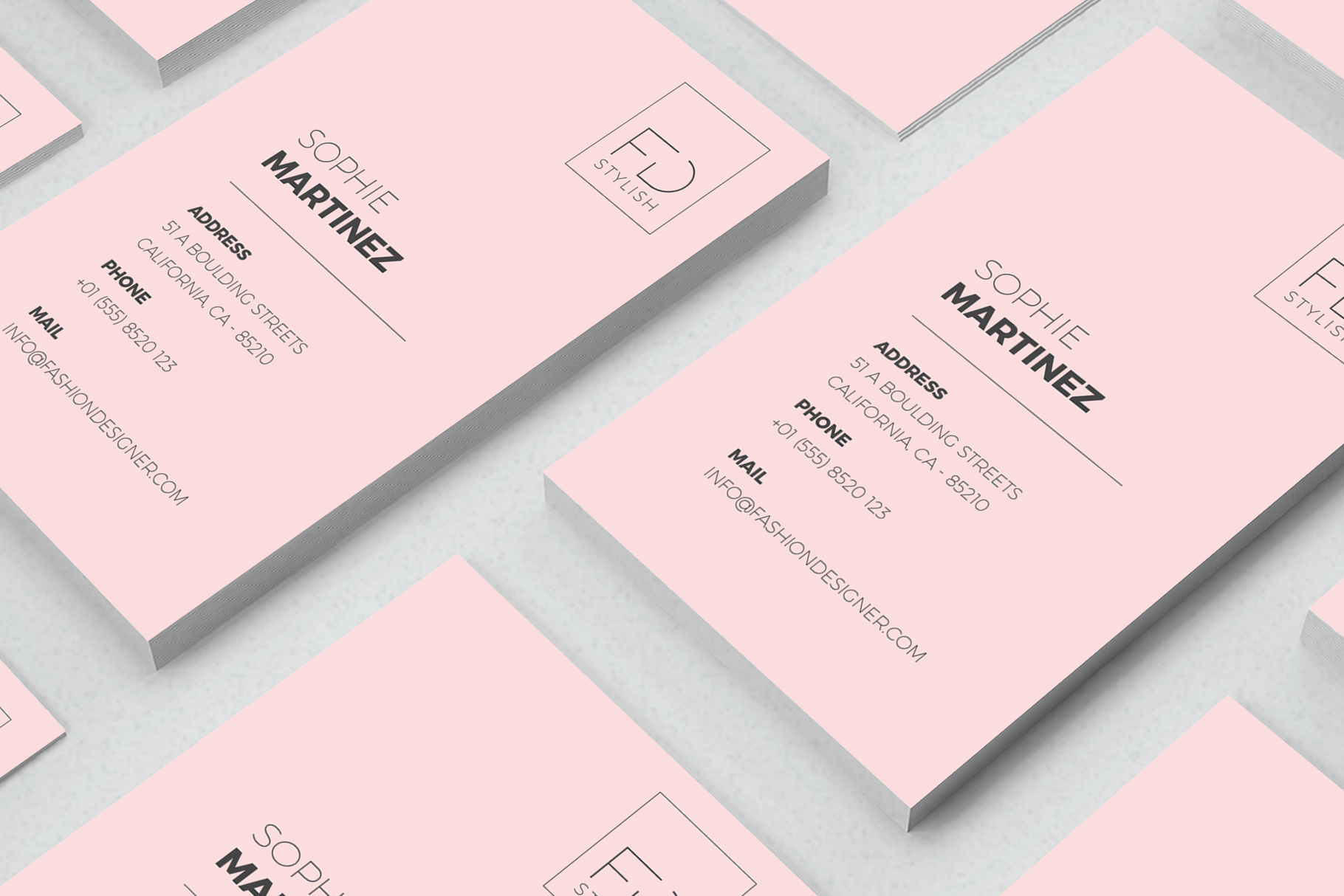 Print on Demand: Minimalist Business Cards Graphic Print Templates By onedsgn - Image 3
