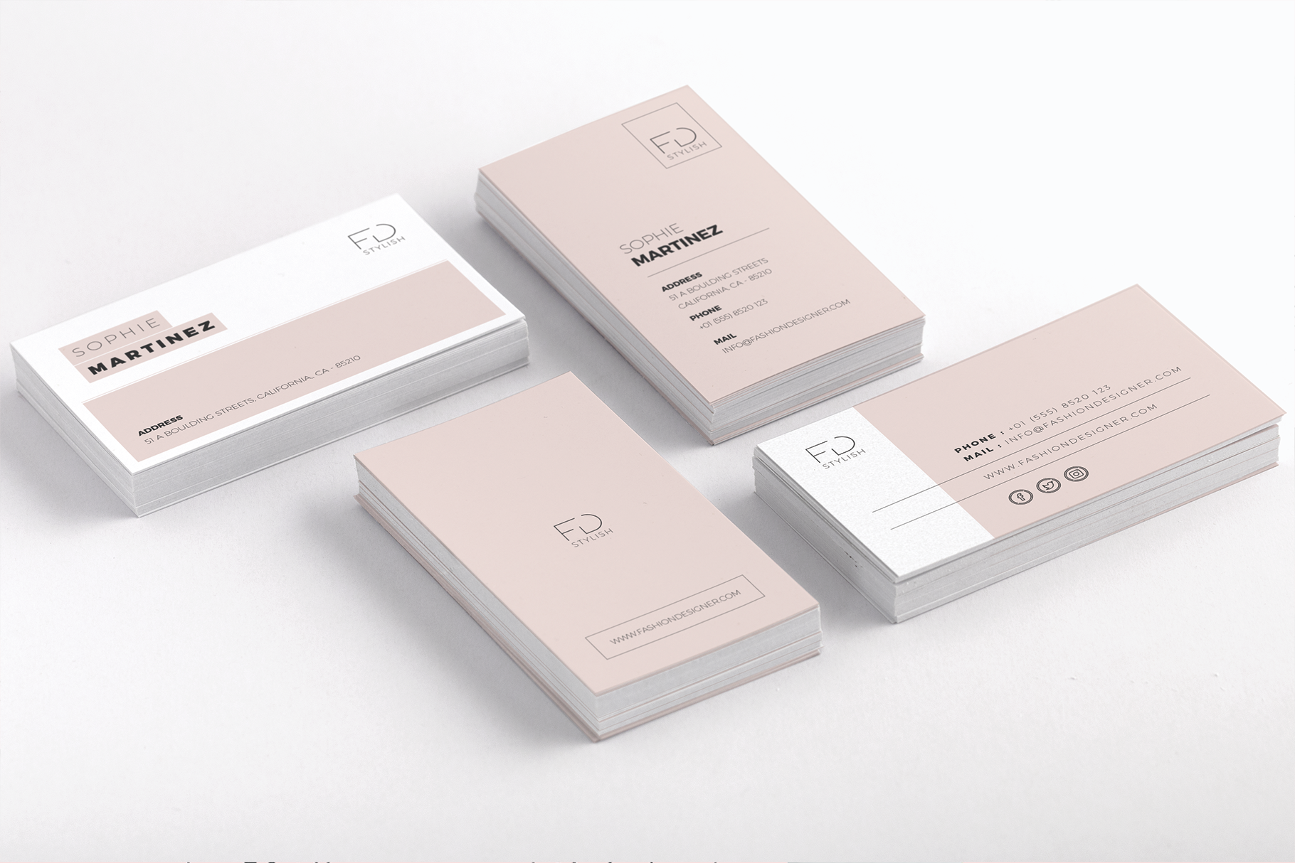 Print on Demand: Minimalist Business Cards Graphic Print Templates By onedsgn - Image 5