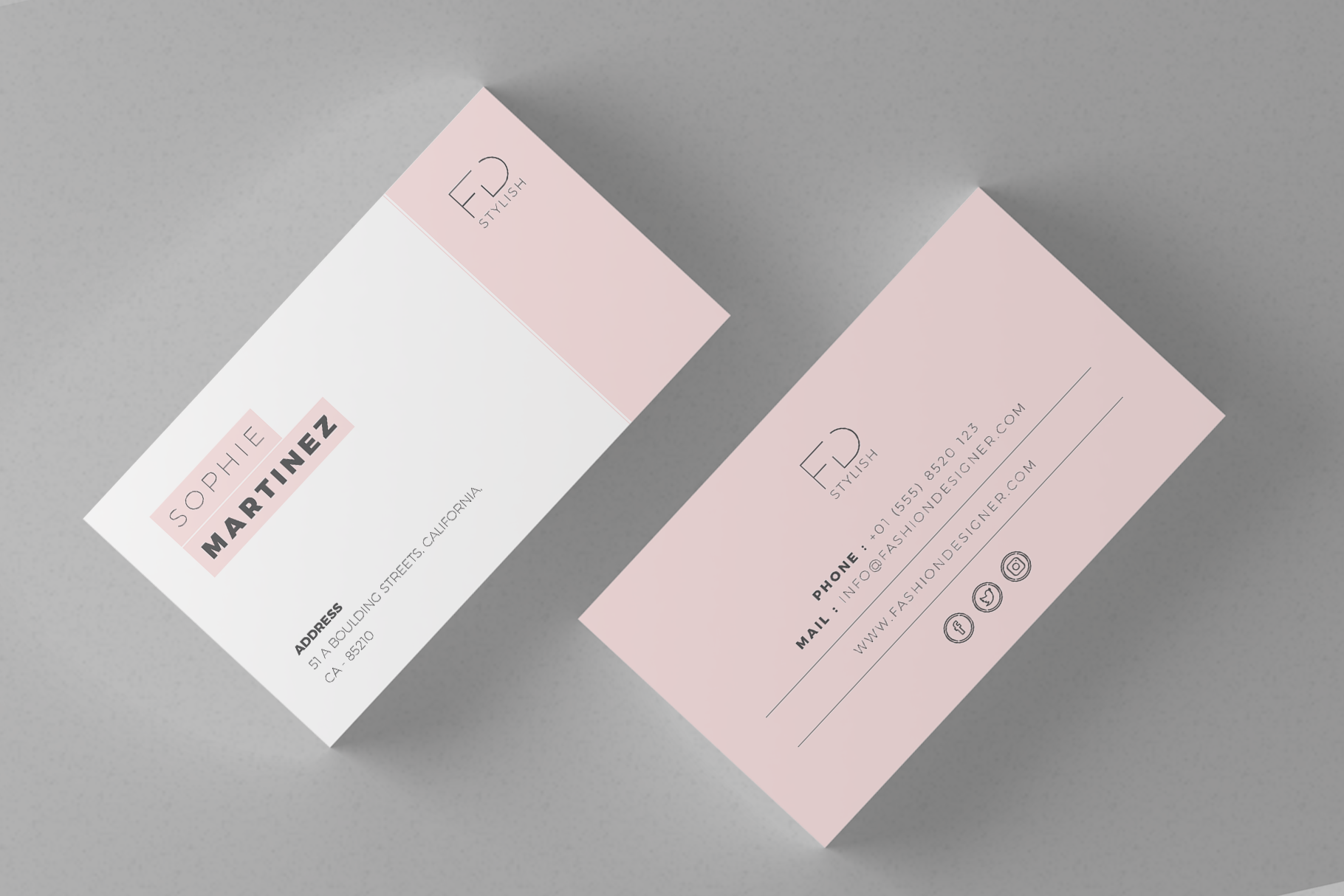 Minimalist Business Cards Graphic by onegraphics - Creative Fabrica