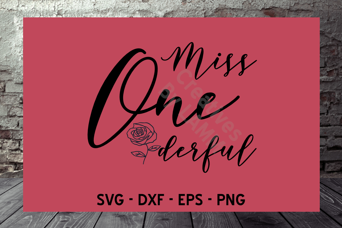 Download Free Miss Onederful Grafik Von Creatives By Lamm Creative Fabrica for Cricut Explore, Silhouette and other cutting machines.
