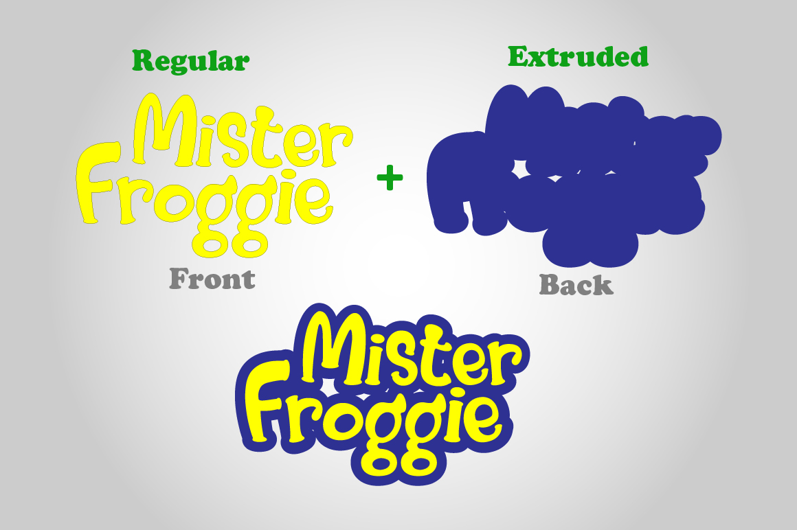 Print on Demand: Mister Froggie Display Font By Din Studio - Image 4