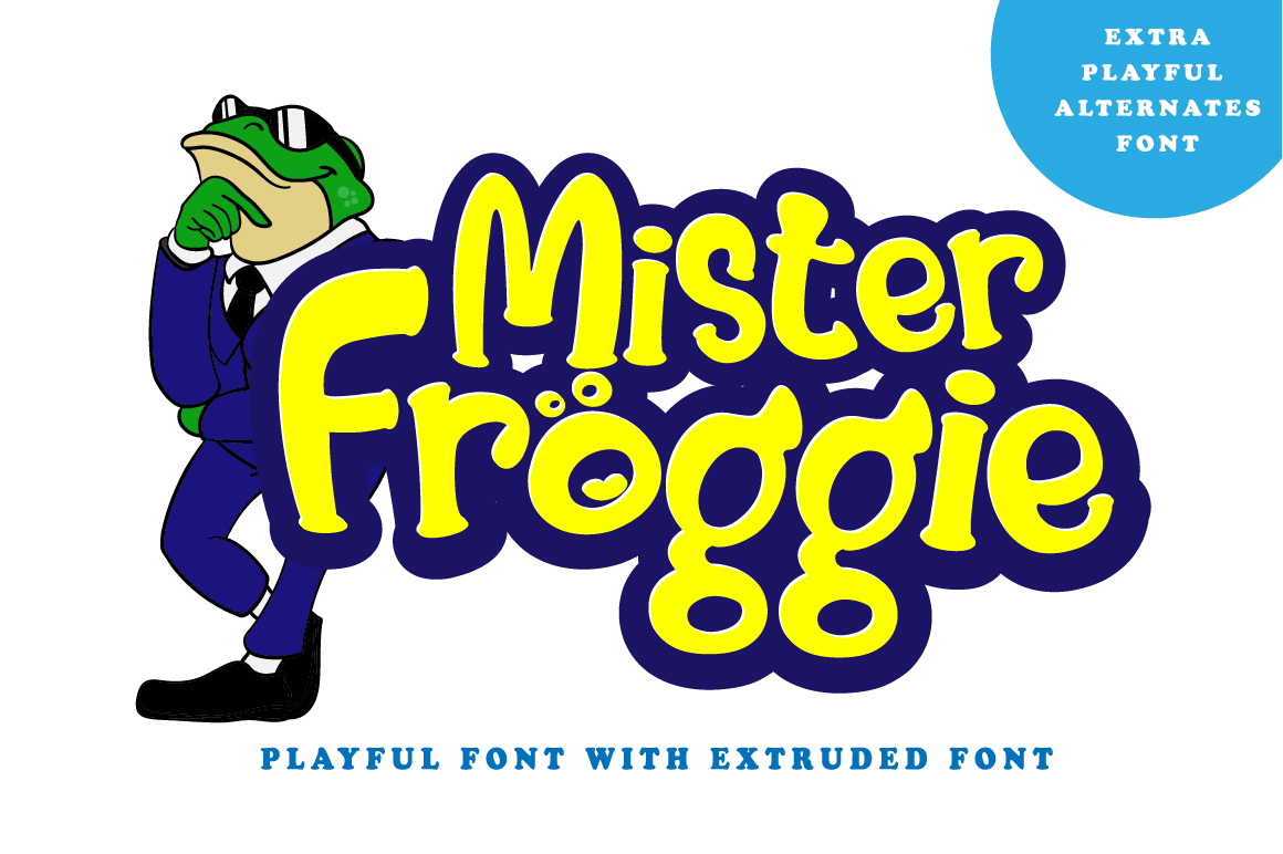 Print on Demand: Mister Froggie Display Font By Din Studio - Image 1