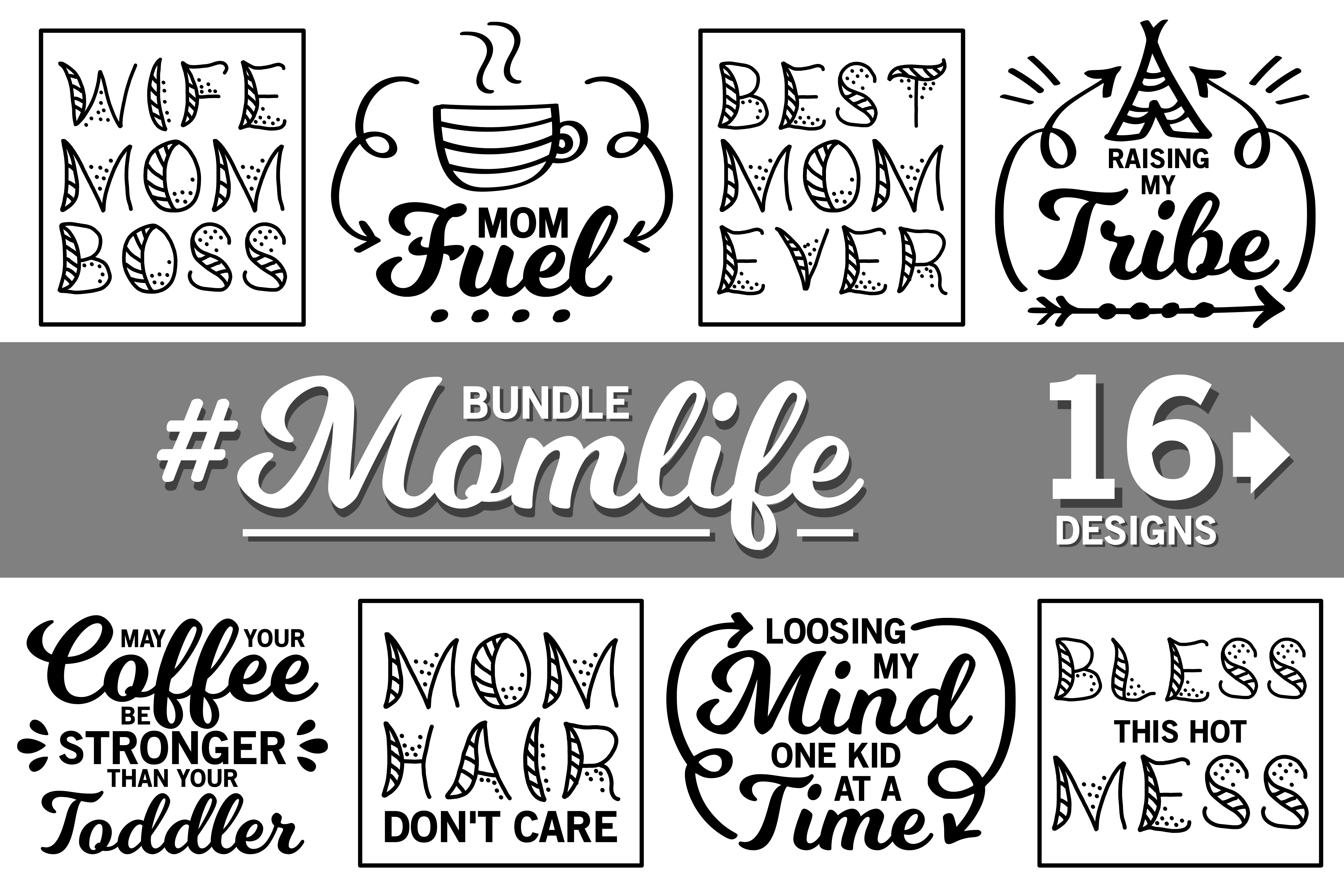 Mom SVGs Graphic By CrystalGiftsStudio