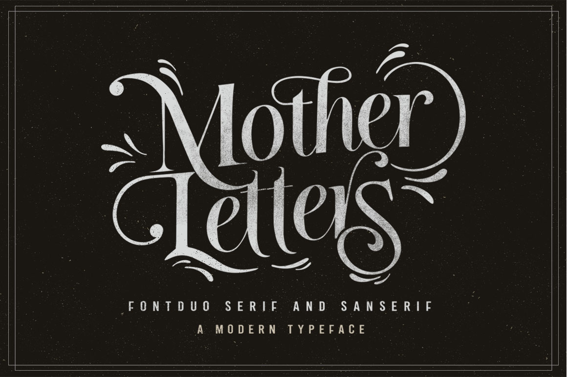 Print on Demand: Mother Letters Display Font By lickermelody