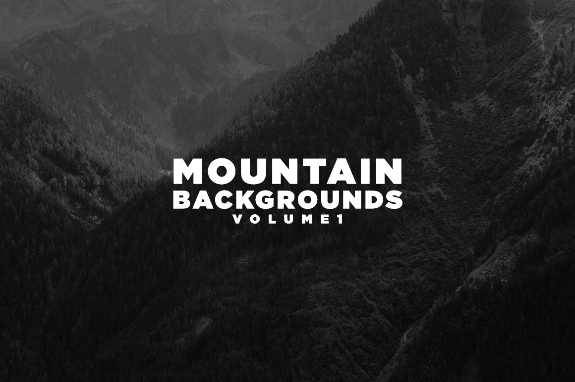 Print on Demand: Mountain Backgrounds Volume I Graphic Nature By Mirco Zett Fonts