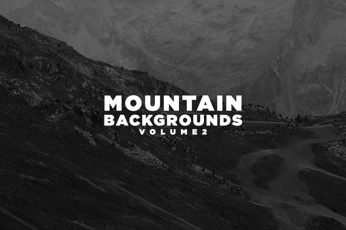 Print on Demand: Mountain Backgrounds Volume II Graphic Nature By Mirco Zett Fonts