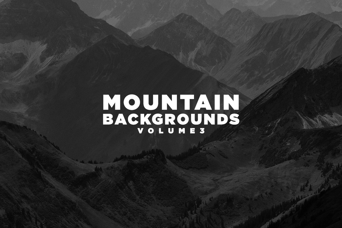 Print on Demand: Mountain Backgrounds Volume III Graphic Nature By Mirco Zett Fonts
