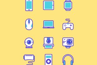 Multimedia Gadget Icon Set Graphic By herbanuts