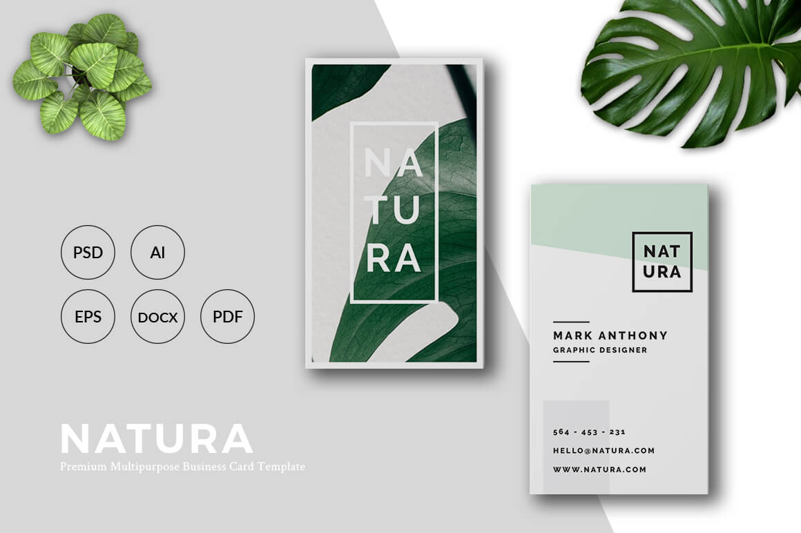 Natura Business Card Template Graphic Print Templates By RahardiDesign