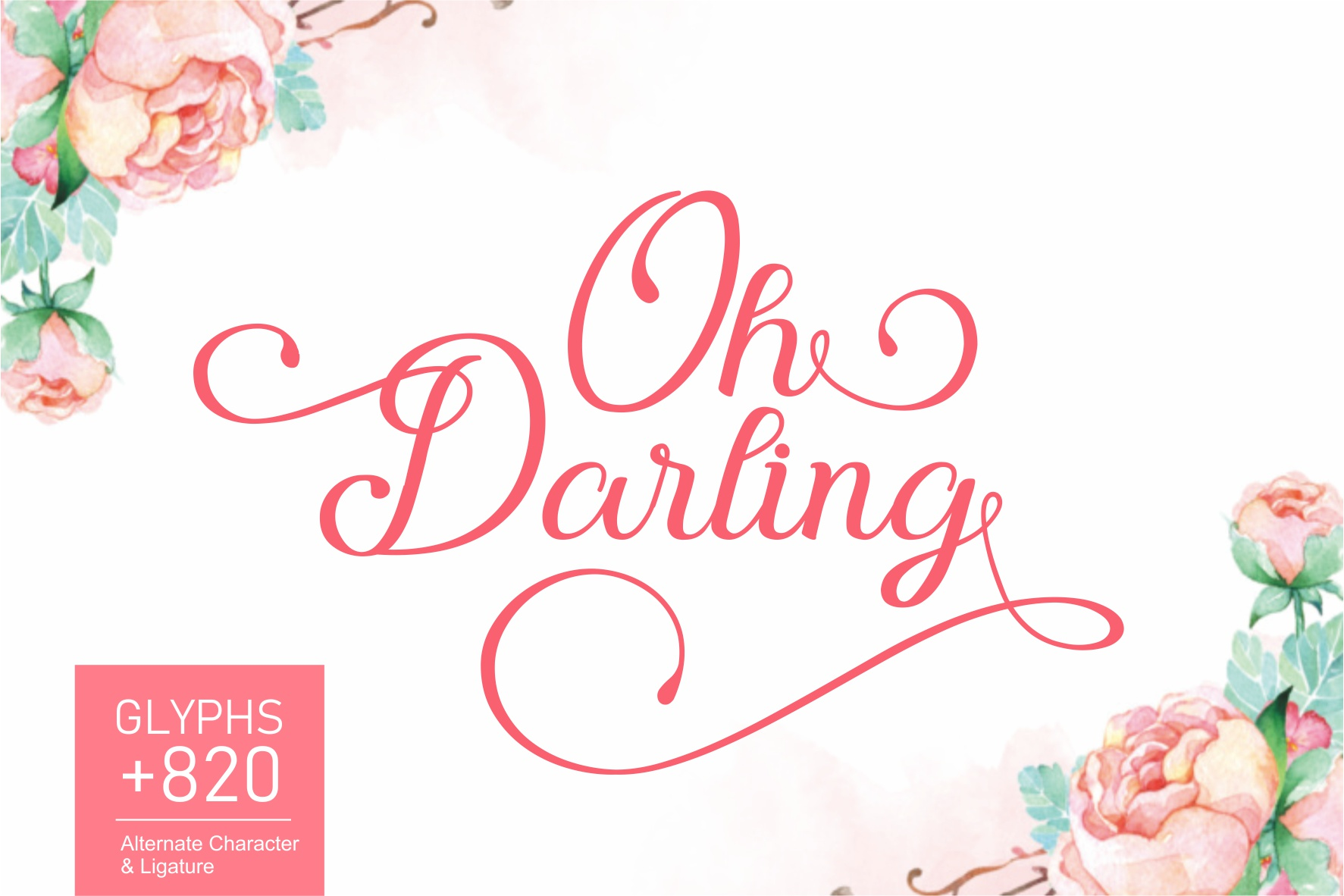 Print on Demand: Oh Darling Script & Handwritten Font By Wandani Creative
