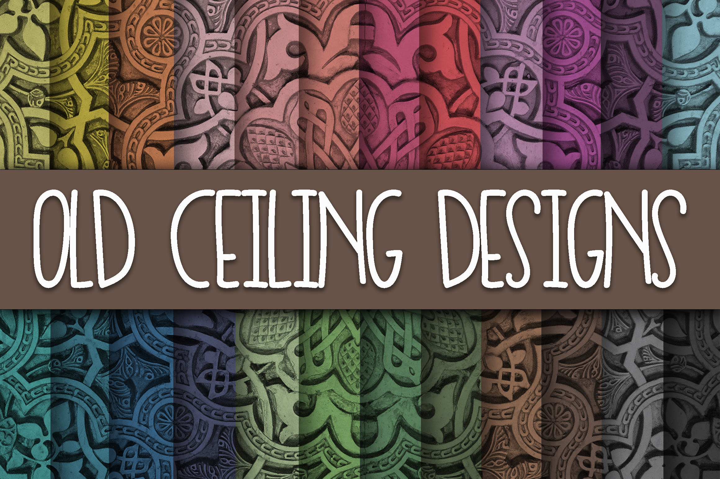 Old Ceiling Patterns Digital Paper Graphic Backgrounds By oldmarketdesigns
