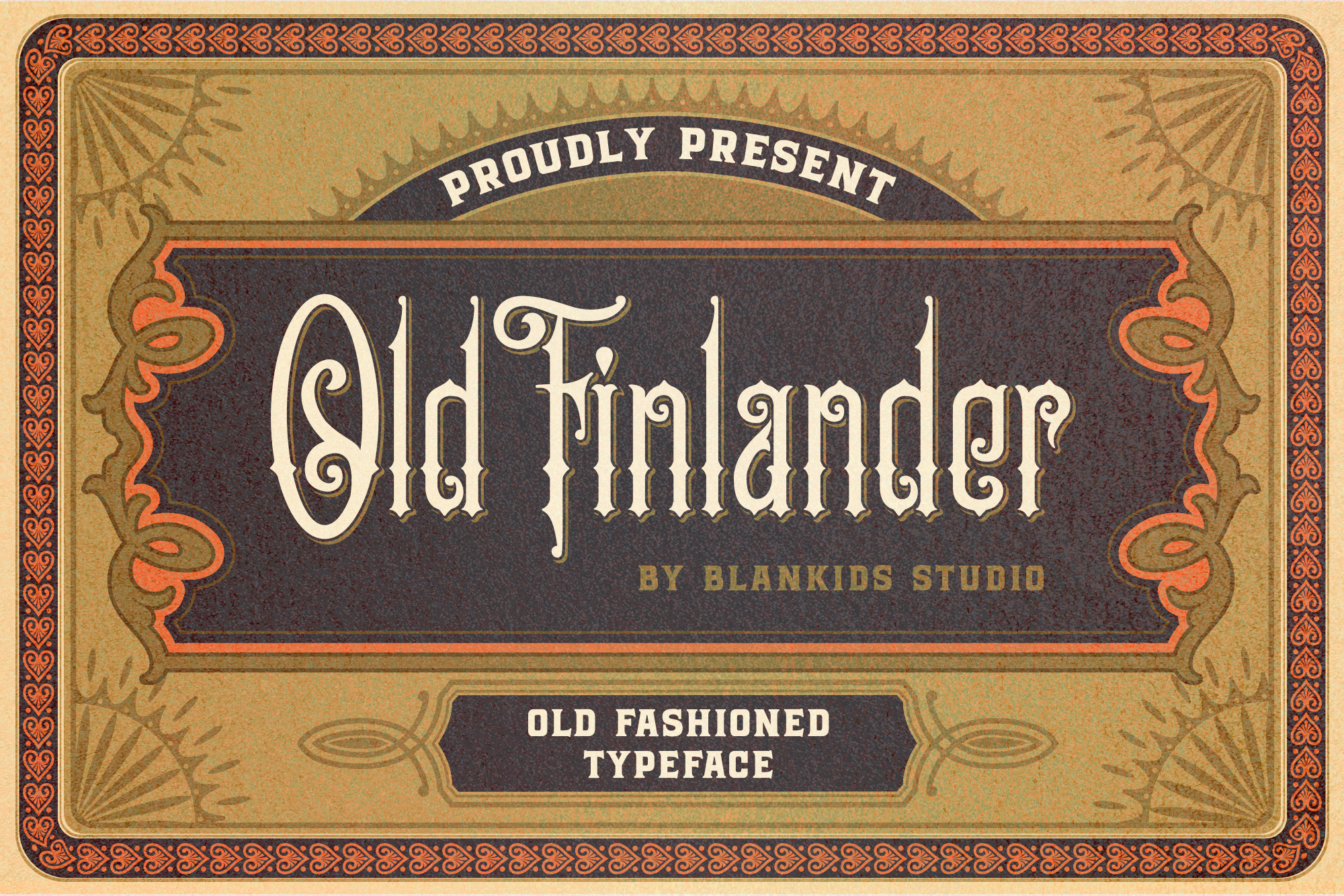 Print on Demand: Old Finlander Display Font By Blankids Studio