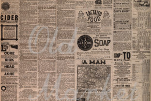 Print on Demand: Old Newspapers Digital Paper Textures Graphic Backgrounds By oldmarketdesigns 3