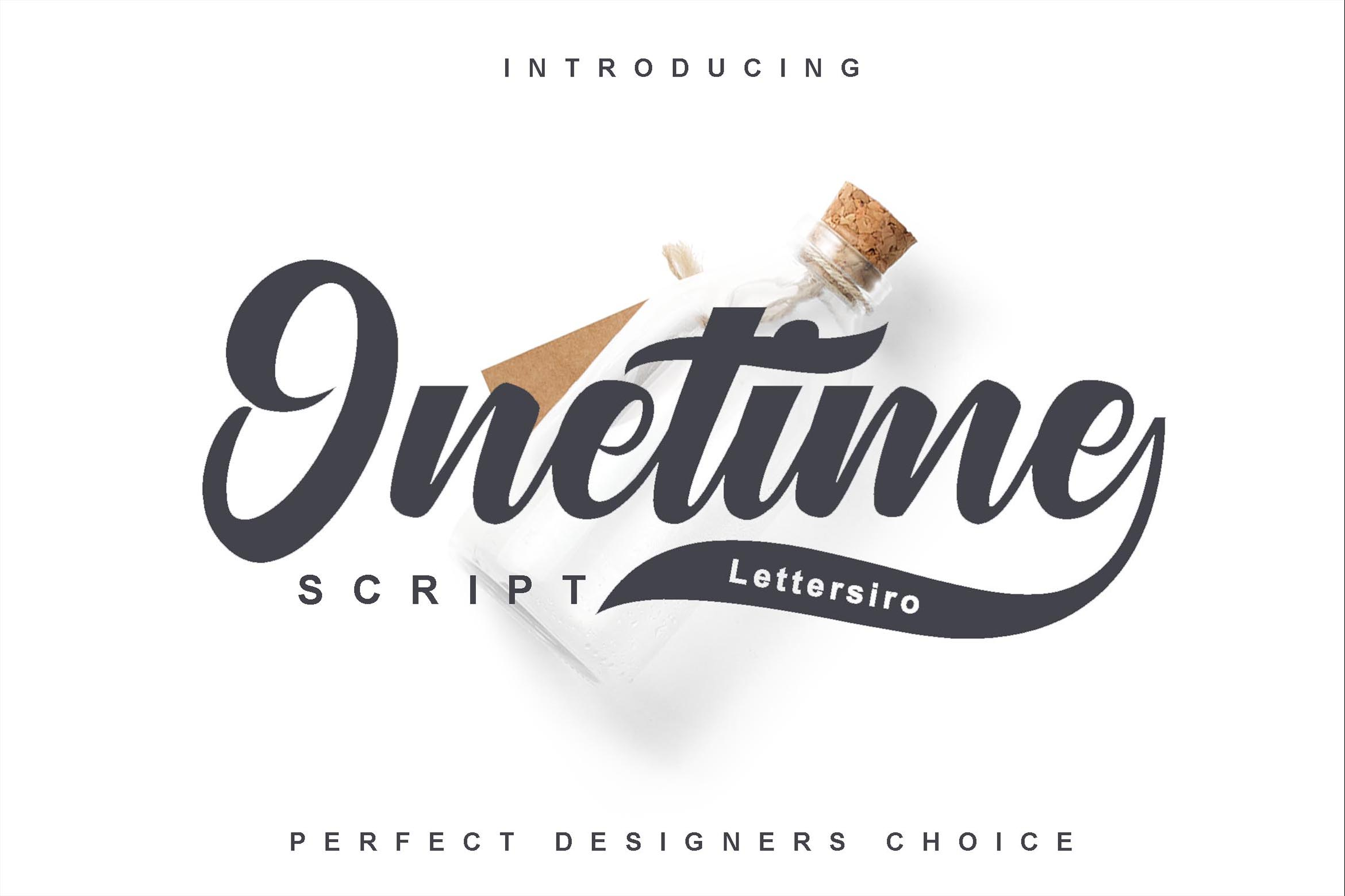 Print on Demand: Onetime Script & Handwritten Font By Lettersiro Co.