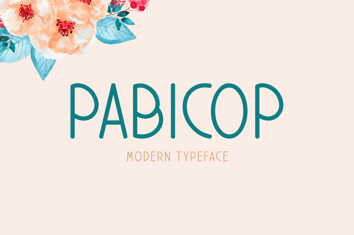 Print on Demand: Pabicop Display Font By Contour Fonts