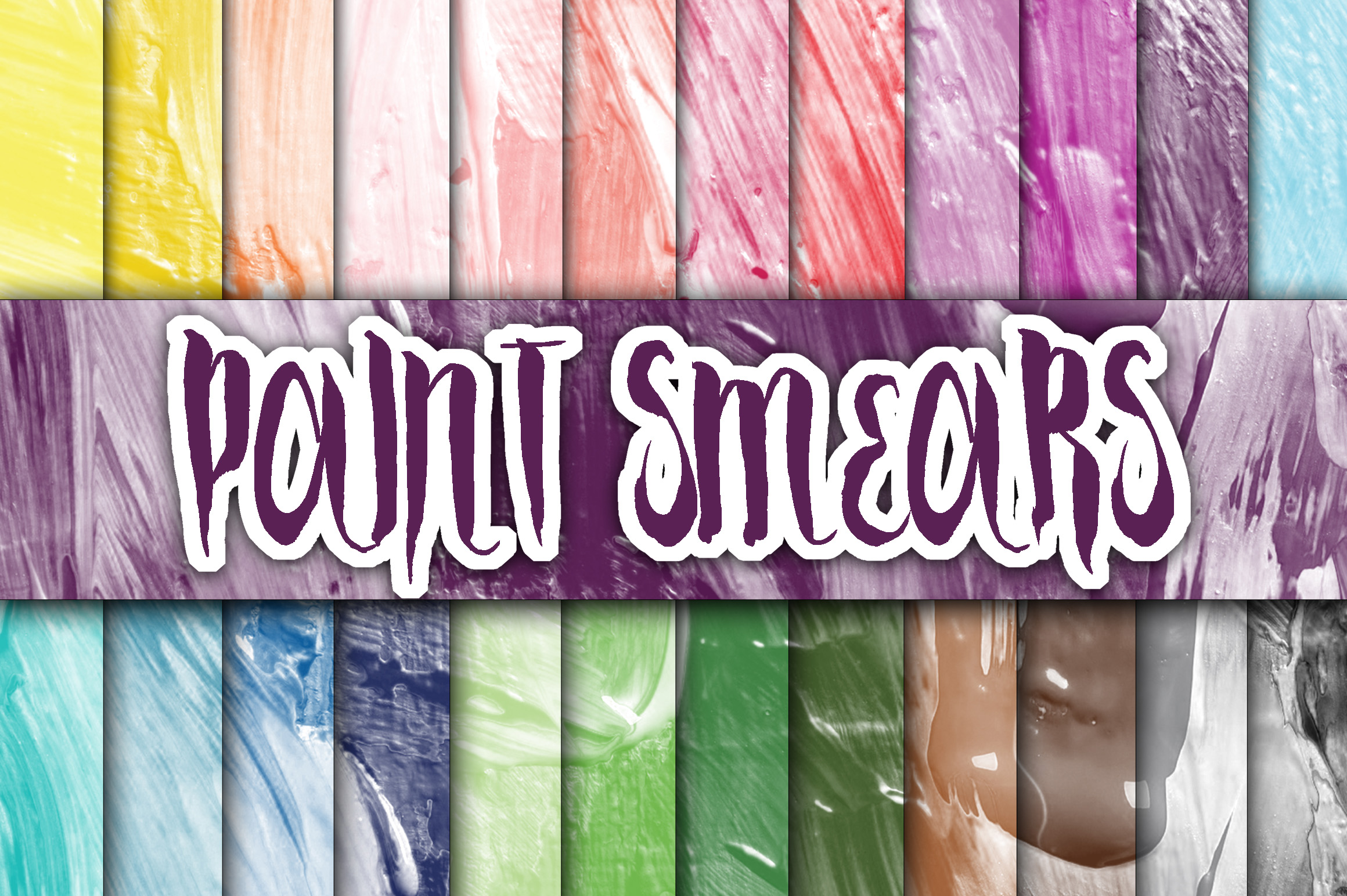 Print on Demand: Paint Smears Textures Digital Paper Graphic Backgrounds By oldmarketdesigns