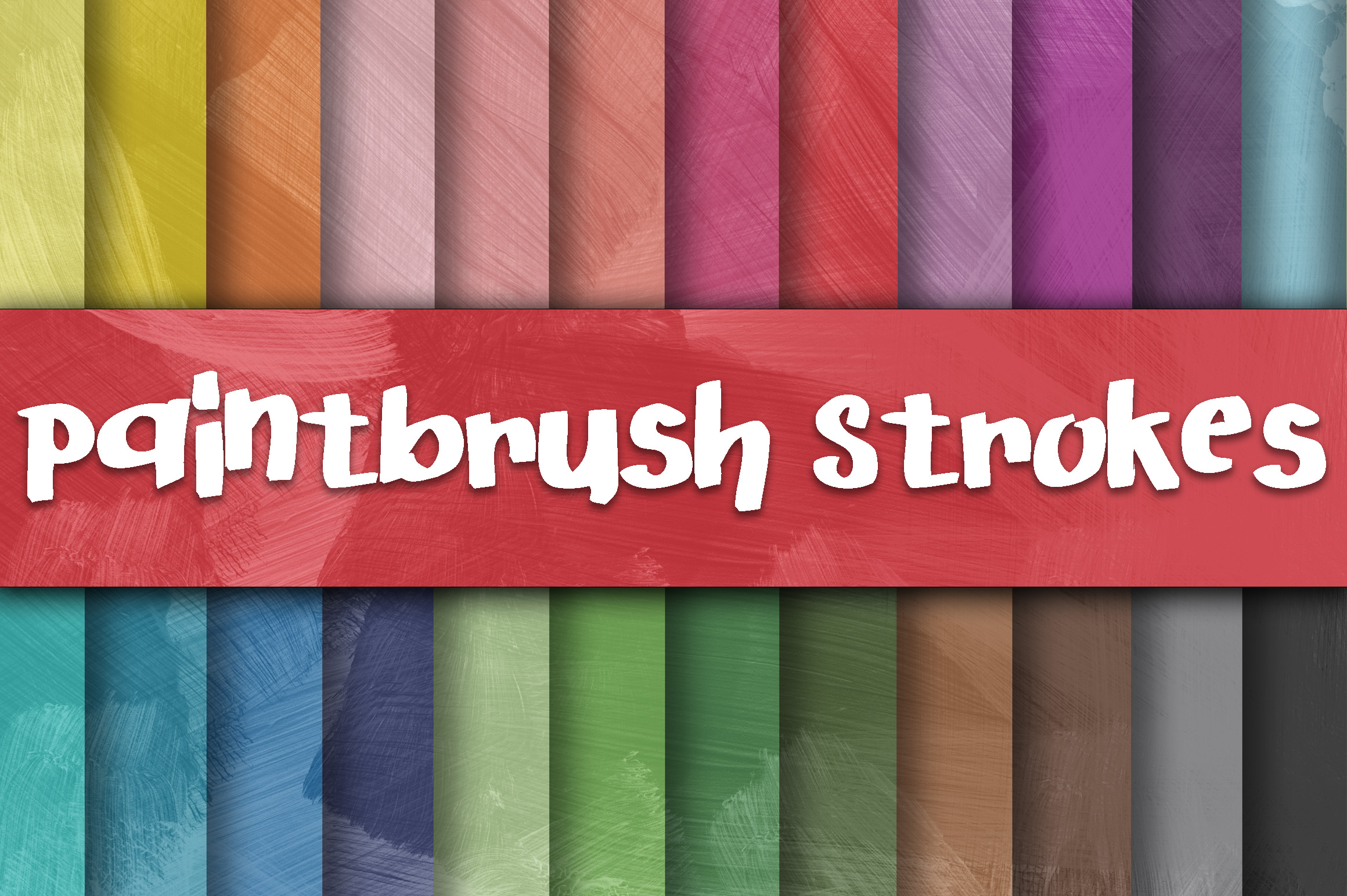 Download Free Paintbrush Strokes Digital Paper Textures Graphic By for Cricut Explore, Silhouette and other cutting machines.