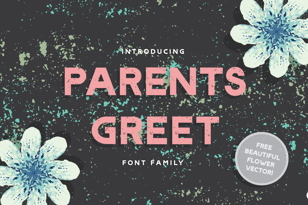 Print on Demand: Parents Greet Display Font By Caoca Studios - Image 1