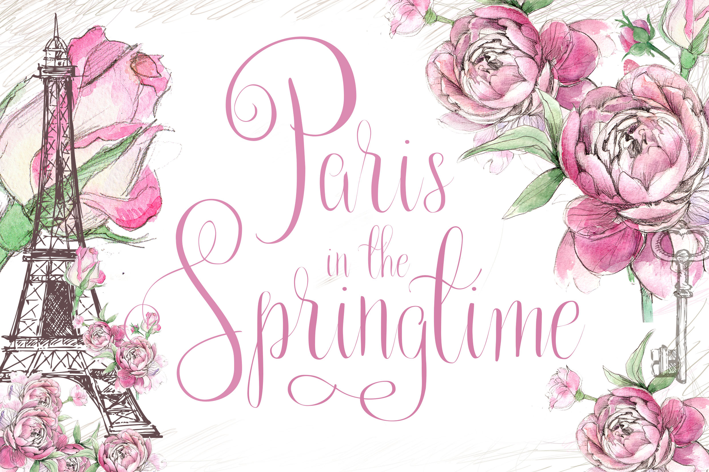 Print on Demand: Paris in the Spring Script & Handwritten Font By Kylie Ellway