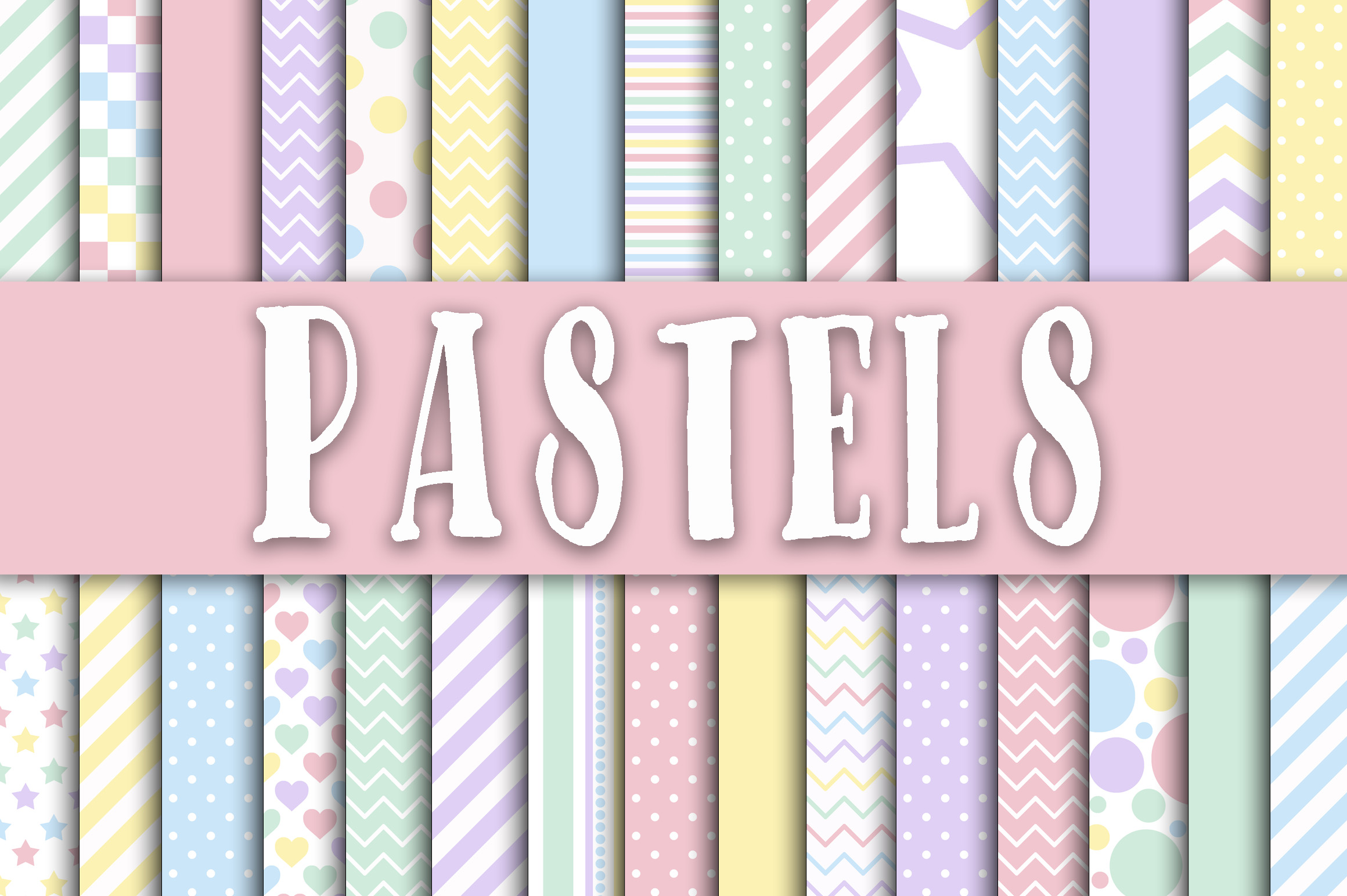Pastel Digital Paper Graphic Backgrounds By oldmarketdesigns