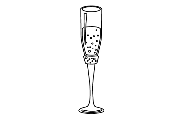 Download Free Photo Booth Bridal Shower Prop Champagne Glass Svg Cut File By for Cricut Explore, Silhouette and other cutting machines.
