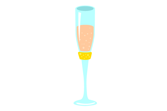 Photo Booth Bridal Shower Prop- Champagne Glass Wedding Craft Cut File By Creative Fabrica Crafts