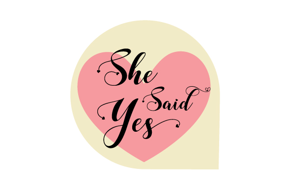 Photo Booth Bridal Prop She Said Yes Svg Cut File By