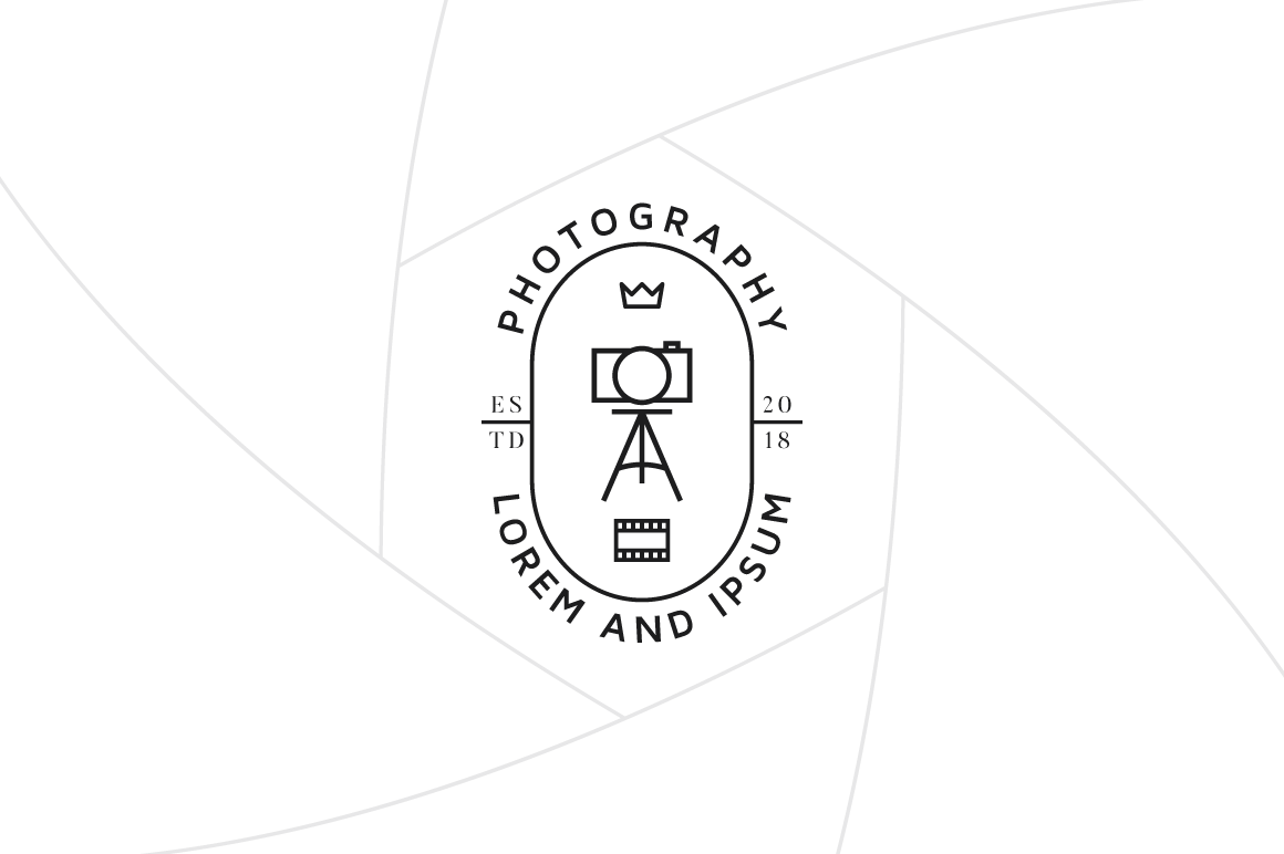 Photographer Studio Logo Template Graphic Logos By irfanfirdaus19