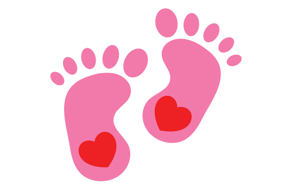 Download Free Pink Baby Feet Silhouette Svg Cut File By Creative Fabrica for Cricut Explore, Silhouette and other cutting machines.