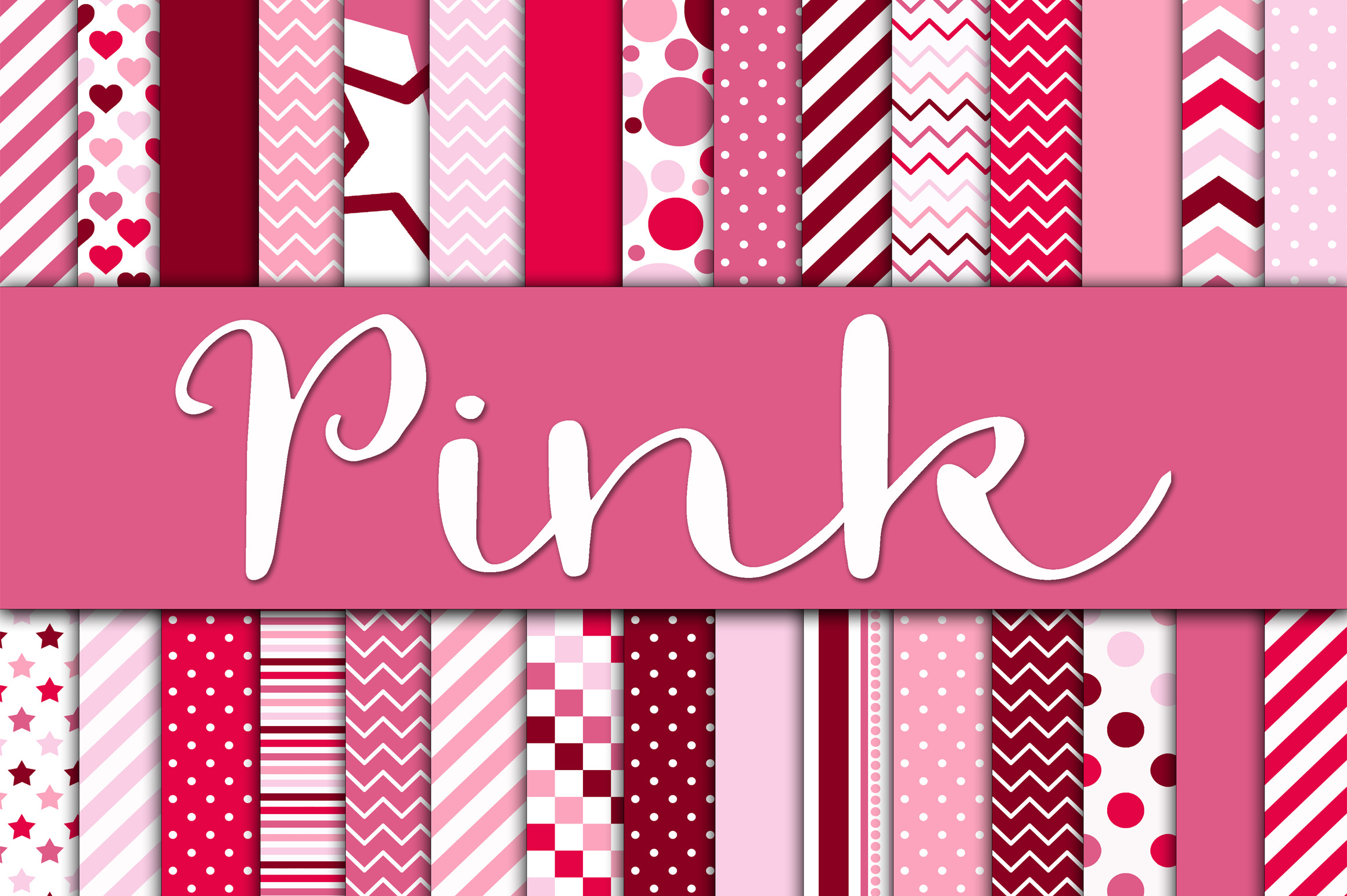 Pink Digital Papers Graphic By oldmarketdesigns