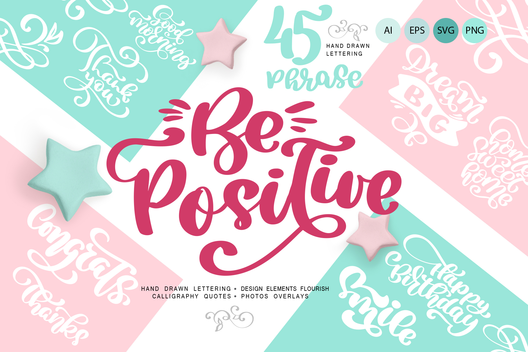 Positive Greeting Quotes and Flourish Graphic Illustrations By Happy Letters