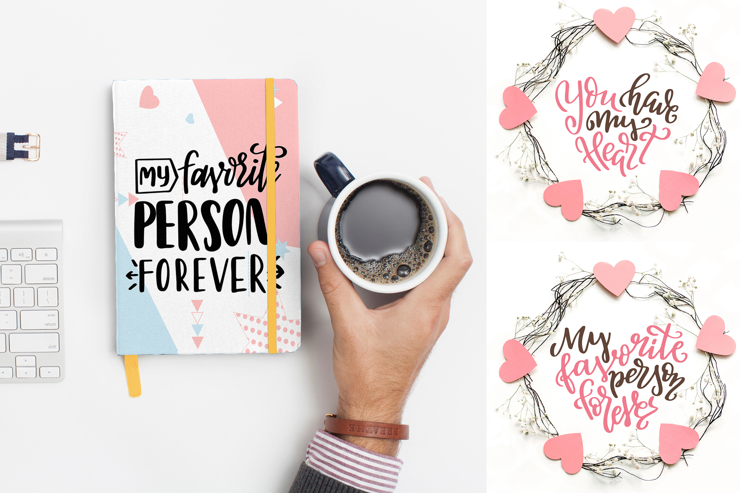 Quotes About Love - Lettering Pack Graphic By tregubova.jul Image 3