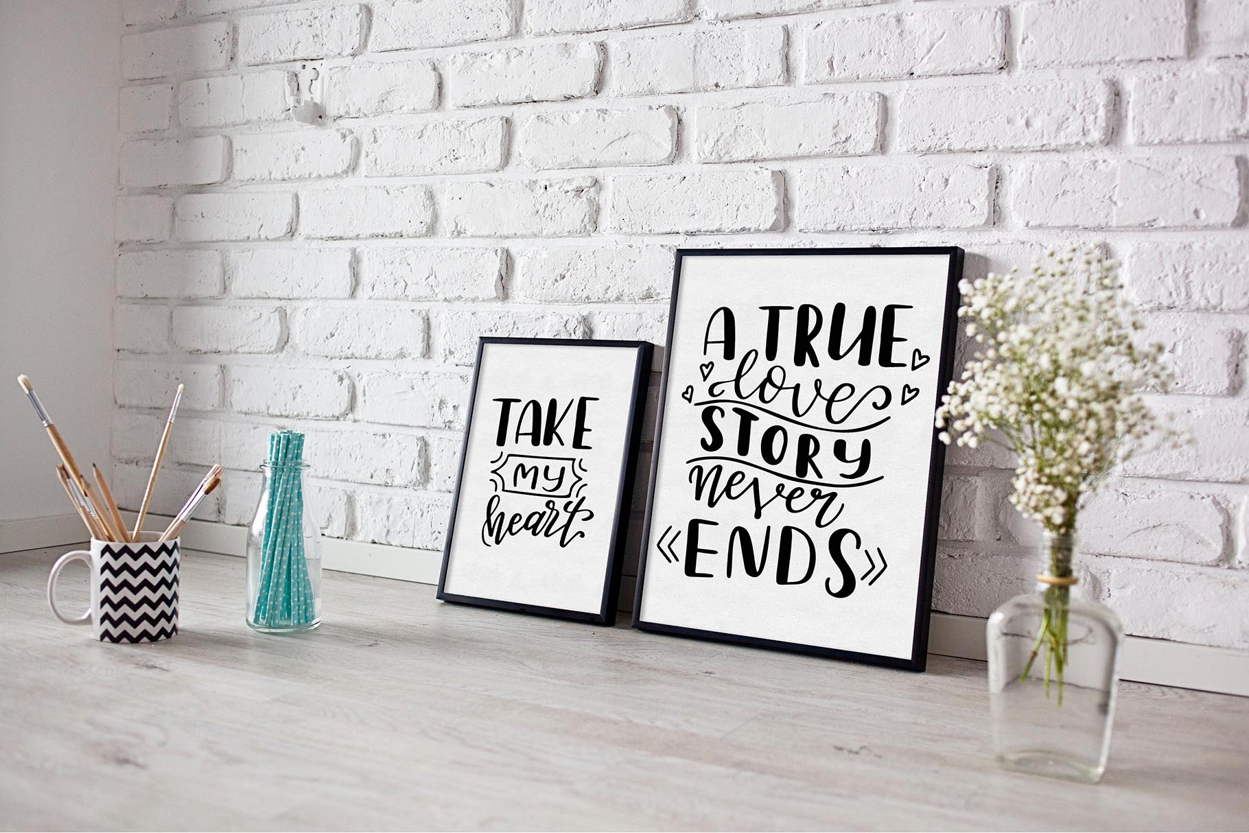 Quotes About Love - Lettering Pack Graphic By tregubova.jul Image 4