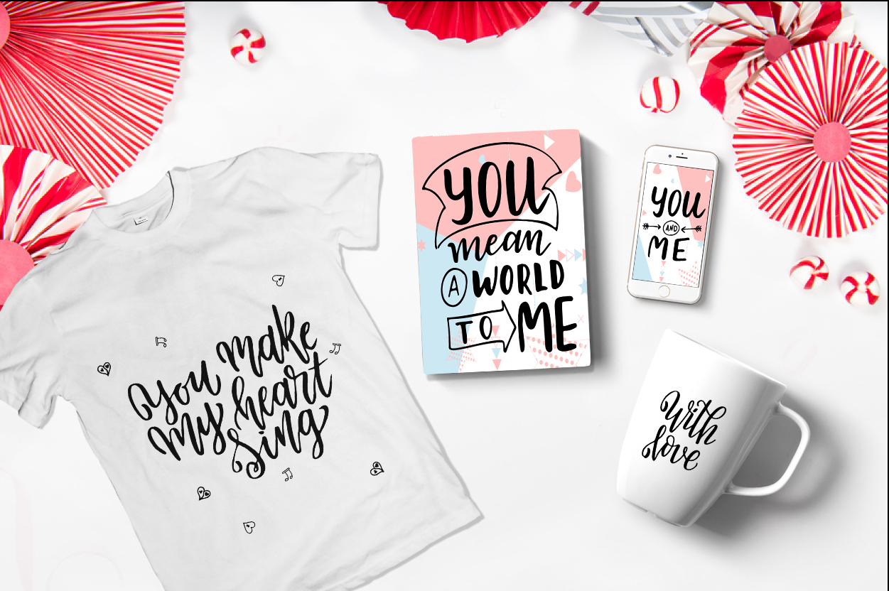 Quotes About Love - Lettering Pack Graphic By tregubova.jul Image 5