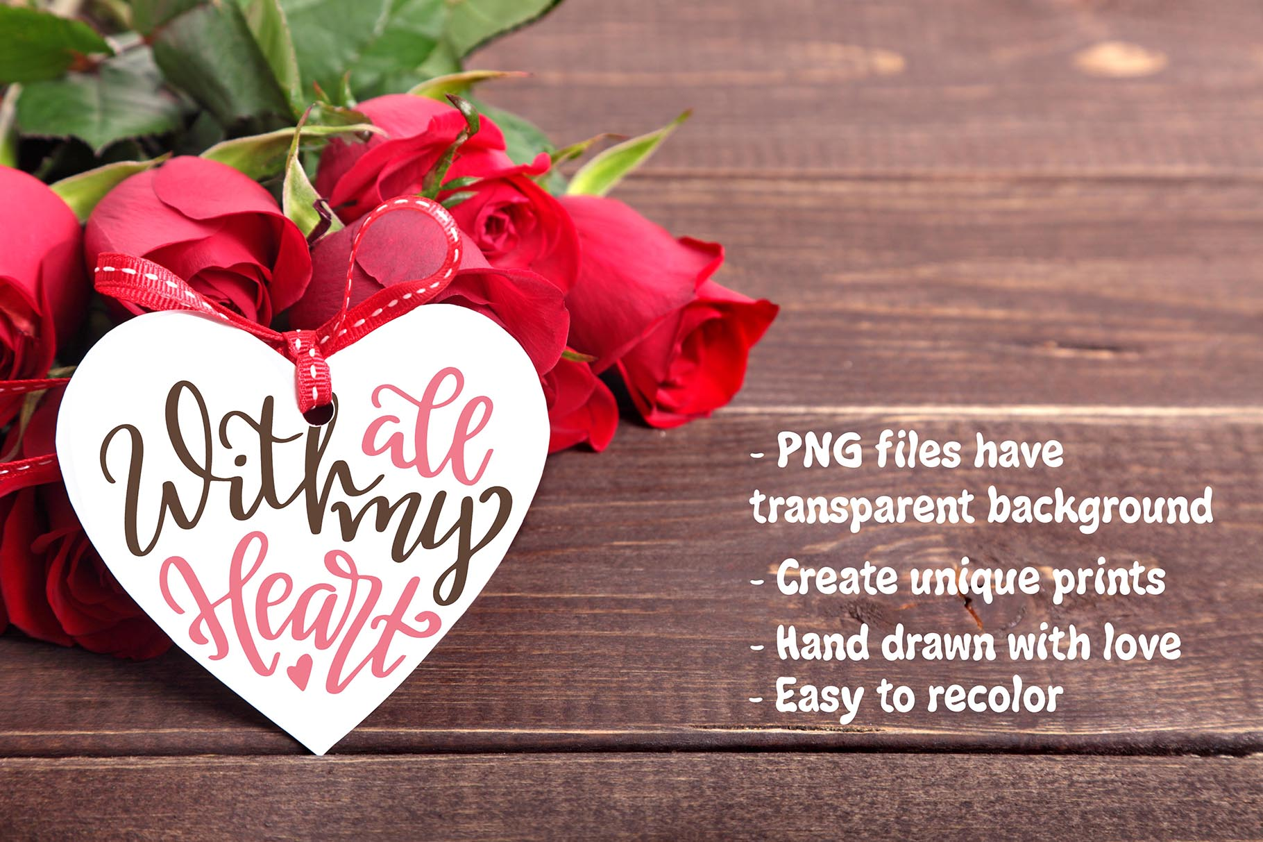 Quotes About Love - Lettering Pack Graphic By tregubova.jul Image 7