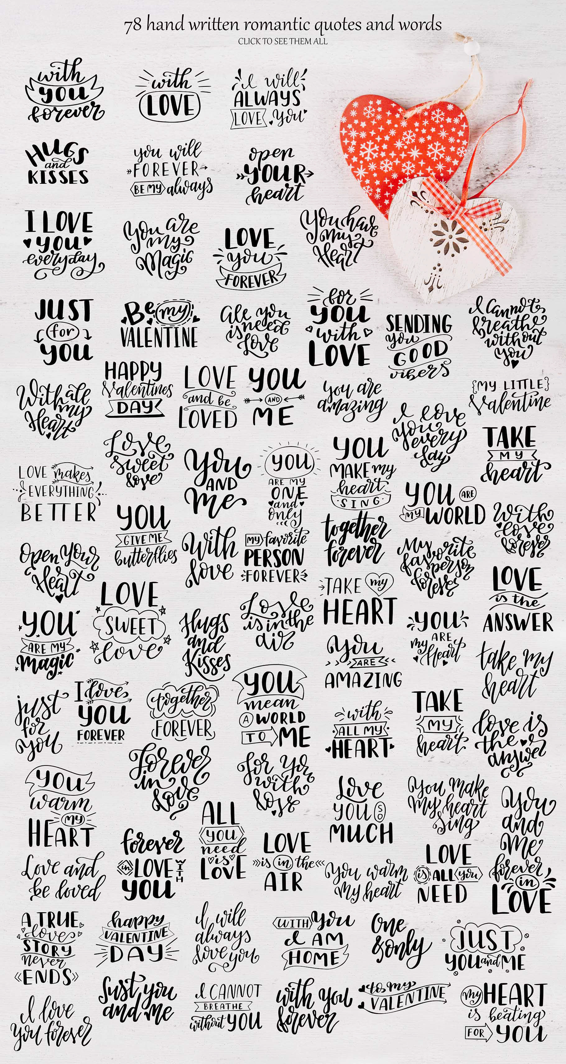 Quotes About Love - Lettering Pack Graphic By tregubova.jul Image 8